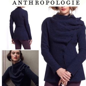 Anthropologie Gro Abrahamsson Wool Drape Cardigan